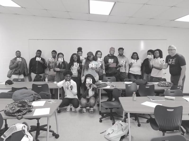 Photo of Dr. A With Students of Psychology At Jackson State University.