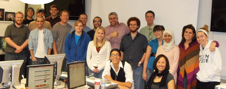 Photo of Dr. A and Masters Degree Students At IUP.