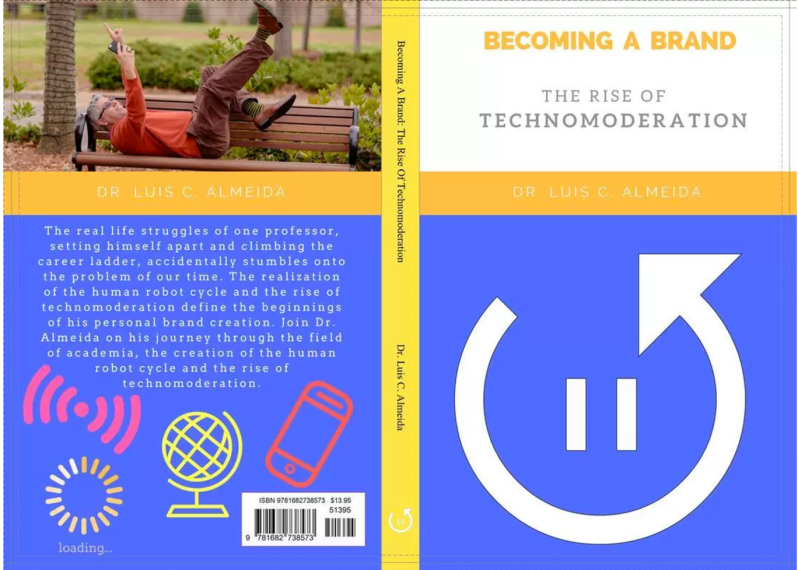 "Photo of Dr. A's ""Becoming a Brand: The Rise Of Techno Moderation"" Book."