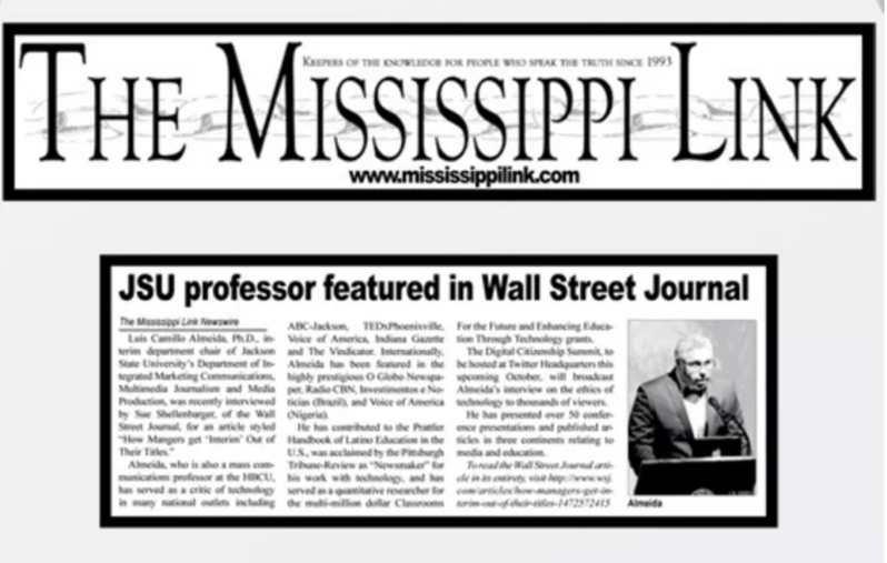 Screen Capture Of Mississippi Link Featuring Dr. Almeida.