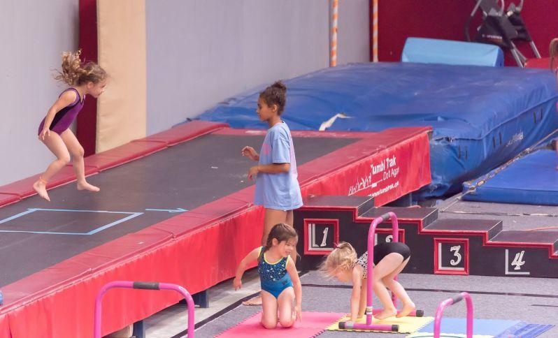 Photo of Kid Jumping At Gymnastics
