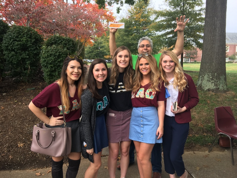 Dr. A And Sorority Students At Lee Day