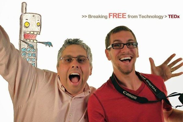 Photo of Dr. A and former student (Now in LA) Promoting TechnoModeration