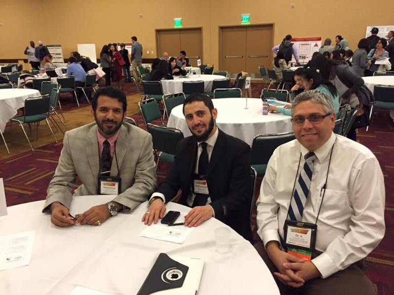 "Dr. ""A"" and two scholars from the Middle East at AECT"
