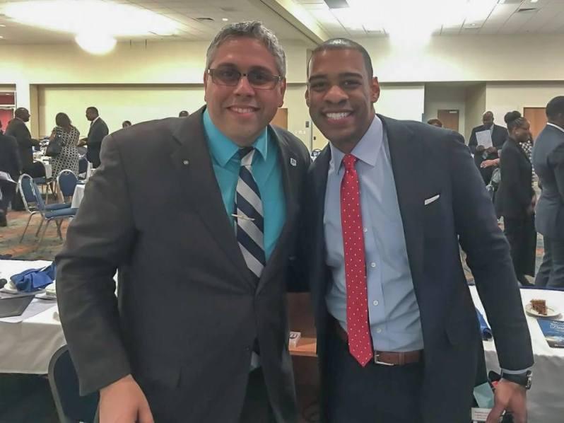Dr. A and CBS Anchor, DeMarco Morgan.