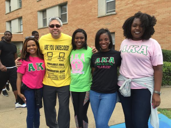 "Photo of Dr. ""A"" and Students from AKA Sorority."