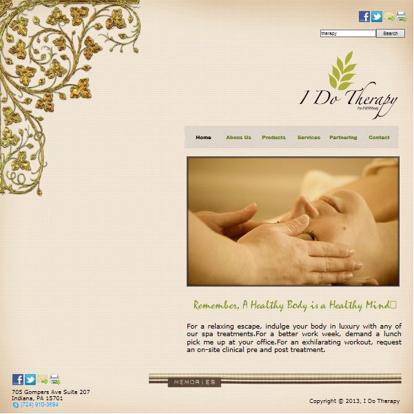 Sample I Do Therapy Website.
